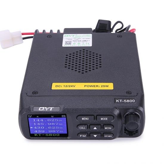 QYT KT-5800 12/24V Voltage dual band quad standby transceiver ham radio