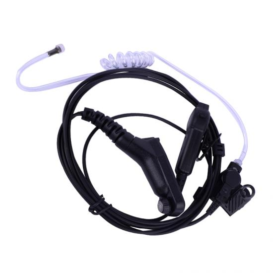 rubber push-button PTT waterproof air tube earphone for motorola APX2000 APX3000