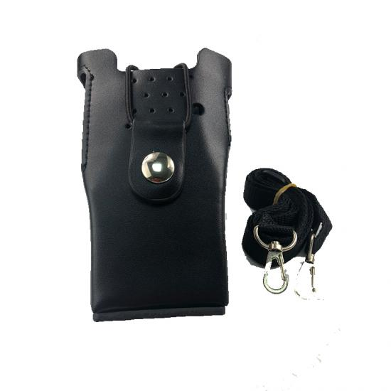 Leather Protective Sleeve Hard Holster Shoulder Bag Case for Kenwood TK-3207 TK-2207 TK-3307 Two Way Radio